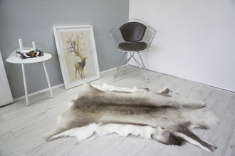 Genuine Scandinavian Reindeer Pelt Rug  Hide | Animal Decor RE 523