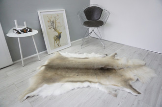 Genuine Scandinavian Reindeer Pelt Rug  Hide | Animal Decor RE 525