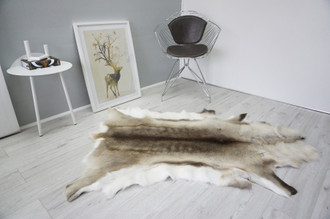 Genuine Scandinavian Reindeer Pelt Rug  Hide | Animal Decor RE 527