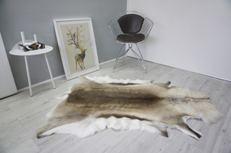 Genuine Scandinavian Reindeer Pelt Rug  Hide | Animal Decor RE 529