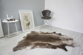 Genuine Scandinavian Reindeer Pelt Rug  Hide | Animal Decor RE 533