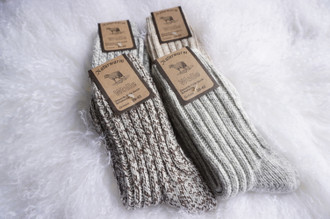 Genuine luxurious Handmade Unisex Sheep Wool Socks | Wool Slipper Socks | Extra Warm Winter Socks | Bed Socks | 60% Lambs Wool Knitted Socks