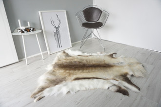 Genuine Scandinavian Reindeer Pelt Rug | Reindeer Rug | Reindeer Pelt | Reindeer Hide | Scandinavian Reindeer | Animal Decor RE 538