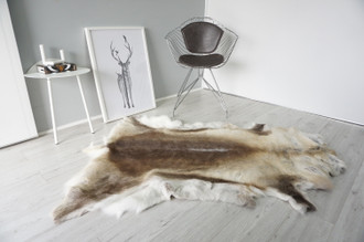 Genuine Scandinavian Reindeer Pelt Rug | Reindeer Rug | Reindeer Pelt | Reindeer Hide | Scandinavian Reindeer | Animal Decor RE 540