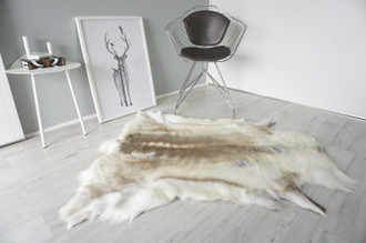 Genuine Scandinavian Reindeer Pelt Rug | Reindeer Rug | Reindeer Pelt | Reindeer Hide | Scandinavian Reindeer | Animal Decor RE 544