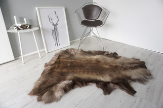 Genuine Scandinavian Reindeer Pelt Rug | Reindeer Rug | Reindeer Pelt | Reindeer Hide | Scandinavian Reindeer | Animal Decor RE 551