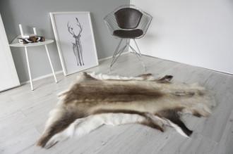 Genuine Scandinavian Reindeer Pelt Rug | Reindeer Rug | Reindeer Pelt | Reindeer Hide | Scandinavian Reindeer | Animal Decor RE 552