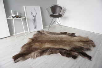 Genuine Scandinavian Reindeer Pelt Rug | Reindeer Rug | Reindeer Pelt | Reindeer Hide | Scandinavian Reindeer | Animal Decor RE 554