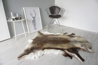 Genuine Scandinavian Reindeer Pelt Rug | Reindeer Rug | Reindeer Pelt | Reindeer Hide | Scandinavian Reindeer | Animal Decor RE 556