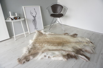 Genuine Scandinavian Reindeer Pelt Rug | Reindeer Rug | Reindeer Pelt | Reindeer Hide | Scandinavian Reindeer | Animal Decor RE 559