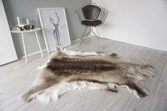 Genuine Scandinavian Reindeer Pelt Rug | Reindeer Rug | Reindeer Pelt | Reindeer Hide | Scandinavian Reindeer | Animal Decor RE 561