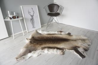 Genuine Scandinavian Reindeer Pelt Rug | Reindeer Rug | Reindeer Pelt | Reindeer Hide | Scandinavian Reindeer | Animal Decor RE 562