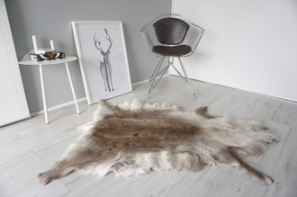 Genuine Scandinavian Reindeer Pelt Rug | Reindeer Rug | Reindeer Pelt | Reindeer Hide | Scandinavian Reindeer | Animal Decor RE 566