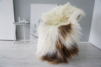 Genuine Icelandic Sheepskin Rug | Sheepskin Hide | Icelandic Sheepskin | Long Wool Rug | Natural Colour | Rare Breed SI 549