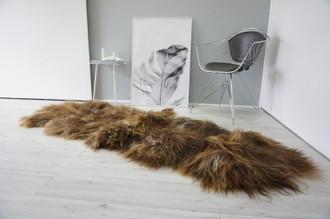 Genuine Rare Double Icelandic Sheepskin Two Pelt Rug | Wool Rug | Sheepskin Hide | Icelandic Sheepskin | Natural Long Wool - DI 67