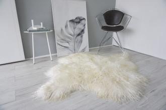 Genuine Rare Double (2) Icelandic Mongolian Sheepskin Rug | Side by Side Sheepskin | Two Pelt Rug | Wool Rug | Natural Curly Wool - DI 71