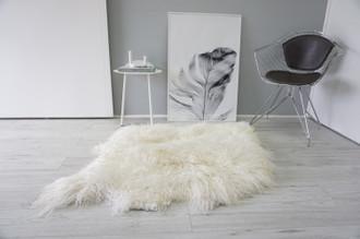 Genuine Rare Double (2) Icelandic Mongolian Sheepskin Rug | Side by Side Sheepskin | Two Pelt Rug | Wool Rug | Natural Curly Wool - DI 72