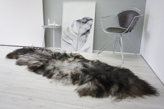 Genuine Rare Double Icelandic Sheepskin Two Pelt Rug | Wool Rug | Sheepskin Hide | Icelandic Sheepskin | Natural Long Wool - DI 83