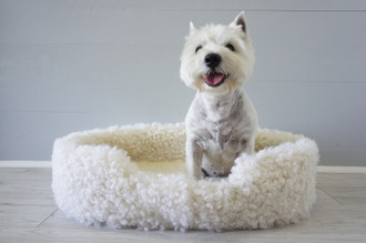 Genuine Sheepskin Large Oval Pet Bed | Wool Dog Bed | Puppies | Cat Bed | Wool Pet Bed | Wool Sheepskin Pet Supplies | Dog Lover Gift