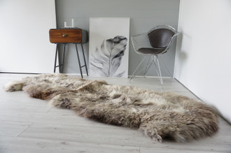 Genuine Unique Rare Double Sheepskin Two Pelt Rug | Wool Rug | Sheepskin Hide | Sheepskin Rug | Natural Soft Dense Wool - AU3