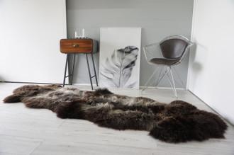 Genuine Unique Rare Herdwick Double Sheepskin Two Pelt Rug | Wool Rug | Sheepskin Hide | Sheepskin Rug | Natural Soft Dense Wool - AU4