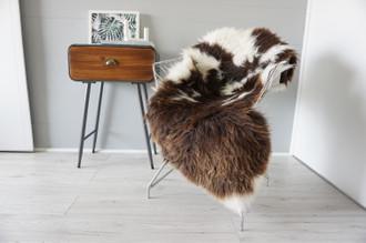 Genuine Rare Unique Ethically Sourced Jacob Single Natural Sheepskin Rug   Sheepskin Hide   Soft Dense Wool   Home Decor   SNR42