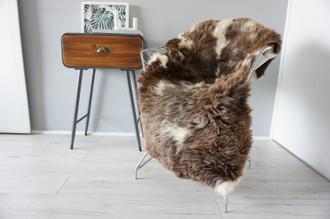 Genuine Rare Unique Ethically Sourced Single Natural Sheepskin Rug   Sheepskin Hide   Animal Hide Rug   Soft Dense Wool   Home Decor   SNR43