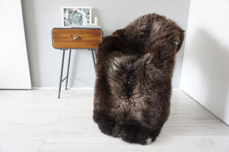 Genuine Rare Unique Ethically Sourced Single Natural Sheepskin Rug   Sheepskin Hide   Animal Hide Rug   Soft Dense Wool   Home Decor   SNR45