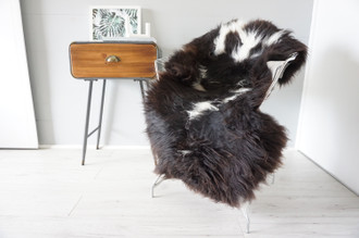 Genuine Rare Unique Ethically Sourced Single Natural Sheepskin Rug   Sheepskin Hide   Animal Hide Rug   Soft Dense Wool   Home Decor   SNR47