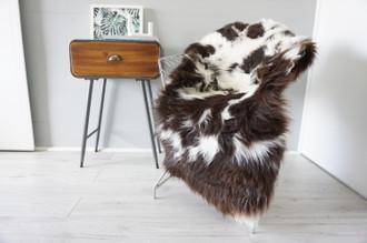 Genuine Rare Unique Ethically Sourced Single Natural Sheepskin Rug   Sheepskin Hide   Animal Hide Rug   Soft Dense Wool   Home Decor   SNR50