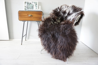 Genuine Rare Unique Ethically Sourced Single Natural Sheepskin Rug   Sheepskin Hide   Animal Hide Rug   Soft Dense Wool   Home Decor   SNR53