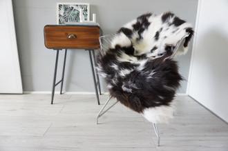Genuine Rare Unique Ethically Sourced Single Natural Sheepskin Rug   Sheepskin Hide   Animal Hide Rug   Soft Dense Wool   Home Decor   SNR55