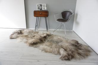 Genuine Rare Double Icelandic Sheepskin Two Pelt Rug | Ethically Sourced Sheepskin Rug | Sheepskin Hide | Extra Long Wool Rug | DIR1