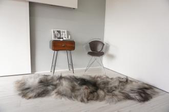 Genuine Rare Double Icelandic Sheepskin Two Pelt Rug | Ethically Sourced Sheepskin Rug | Sheepskin Hide | Extra Long Wool Rug | DIR2