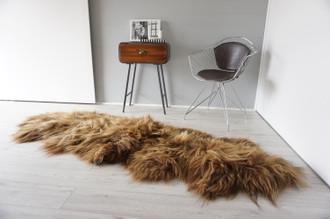 Genuine Rare Double Icelandic Sheepskin Two Pelt Rug | Ethically Sourced Sheepskin Rug | Sheepskin Hide | Extra Long Wool Rug | DIR5