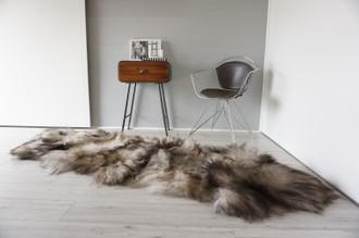 Genuine Rare Double Icelandic Sheepskin Two Pelt Rug | Ethically Sourced Sheepskin Rug | Sheepskin Hide | Extra Long Wool Rug | DIR7