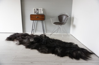 Genuine Rare Double Icelandic Sheepskin Two Pelt Rug | Ethically Sourced Sheepskin Rug | Sheepskin Hide | Extra Long Wool Rug | DIR8