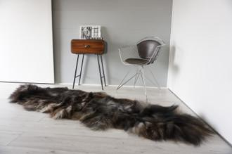 Genuine Rare Double Icelandic Sheepskin Two Pelt Rug | Ethically Sourced Sheepskin Rug | Sheepskin Hide | Extra Long Wool Rug | DIR9