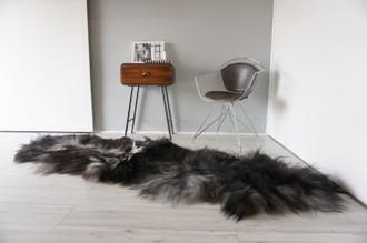 Genuine Rare Double Icelandic Sheepskin Two Pelt Rug | Ethically Sourced Sheepskin Rug | Sheepskin Hide | Extra Long Wool Rug | DIR11