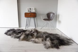 Genuine Rare Double Icelandic Sheepskin Two Pelt Rug | Ethically Sourced Sheepskin Rug | Sheepskin Hide | Extra Long Wool Rug | DIR12