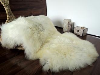 Wonderful Genuine Natural Soft Wool Sheepskin Rug - White / Silver / Ivory / Latte Mix - egSN 19
