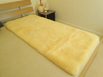 100% Genuine medical rectangular sheepskin bed pad - mat - underlay mattress