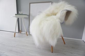 Natural Rare Genuine - Giant Icelandic Sheepskin Rug Single Soft Creamy White Long Wool