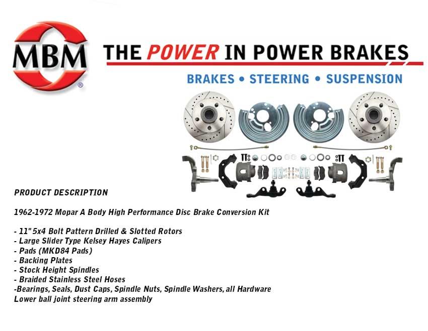 Mopar 5x4 Bolt Pattern Drilled & Slotted Rotors - MBM Brakes