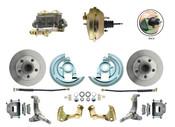 """DBK6267-GM-233  - 1962-1967 Nova Power Disc Brake Conversion Kit w/ 9"""" 3 Stud Booster"""