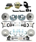 "DBK6272834-MP-207 1962-72 Mopar B E Body Front & Rear Disc Brake Conversion Kit w/ Standard Rotors ( Charger, Challenger, Coronet) w/ 8"" Dual Zinc Booster Conversion Kit w/ Left Mount proportioning valve Kit"