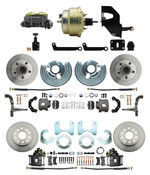 "DBK6272834-MP-208 1962-72 Mopar B&E Body Front & Rear Disc Brake Conversion Kit w/ Standard Rotors ( Charger, Challenger, Coronet) w/ 8"" Dual Zinc Booster Conversion Kit w/ Adjustable Valve"