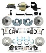 """DBK6272834-MP-208 1962-72 Mopar B&E Body Front & Rear Disc Brake Conversion Kit w/ Standard Rotors ( Charger, Challenger, Coronet) w/ 8"""" Dual Zinc Booster Conversion Kit w/ Adjustable Valve"""