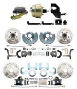 "DBK6272834LX-MP-207 1962-72 Mopar B&E Body  Front & Rear Disc Brake Conversion Kit w/ Drilled & Slotted Rotors ( Charger, Challenger, Coronet) w/ 8"" Dual Zinc Booster Conversion Kit w/ Left Mount valve Kit"