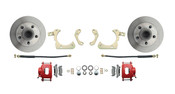 DBK5558R  1955-1958 GM Full Size Standard Disc Brake Conversion Kit Red Calipers (Impala, Bel Air, Biscayne)